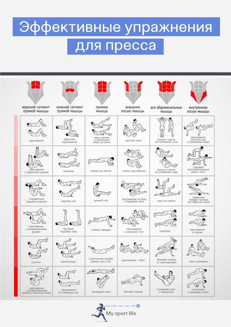 Качаем пресс в домашних условиях для мужчин схема упражнений фото