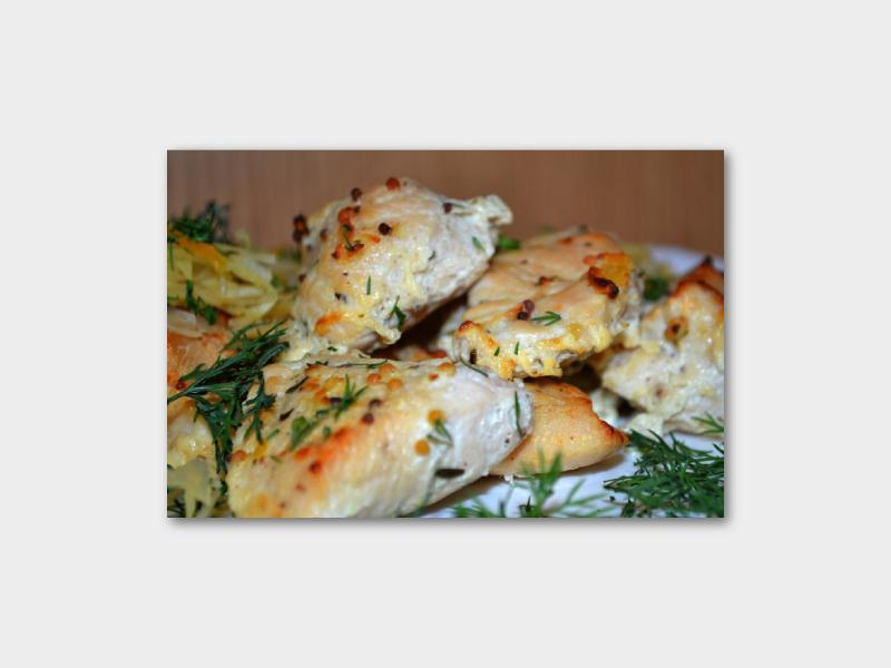 Куриное филе в кефире и филе в лимонном соке