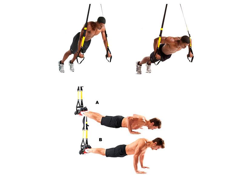 TRX упражнения на грудь