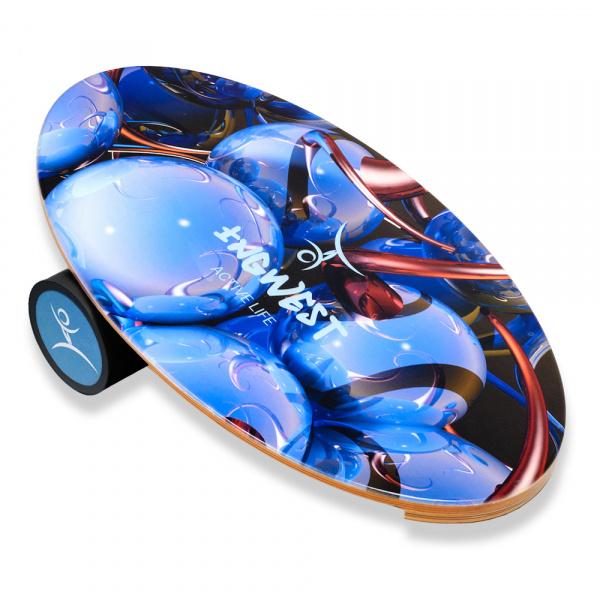 Баланс борд Blue Sphere (Balance Board Training System) с прорезиненным роллером