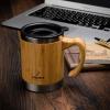 Бамбуковая кружка Super Light Eco из нержавеющей сталис крышкой и ручкой