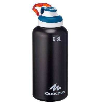 Алюминиевая бутылка Quechua, 0.6 л, Black
