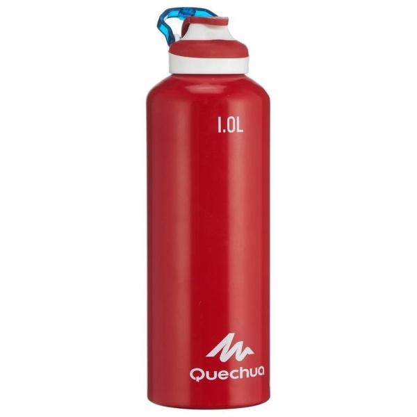 Алюминиевая бутылка Quechua, 1 л, Red