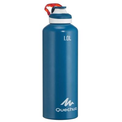 Алюминиевая бутылка Quechua, 1 л, Blue