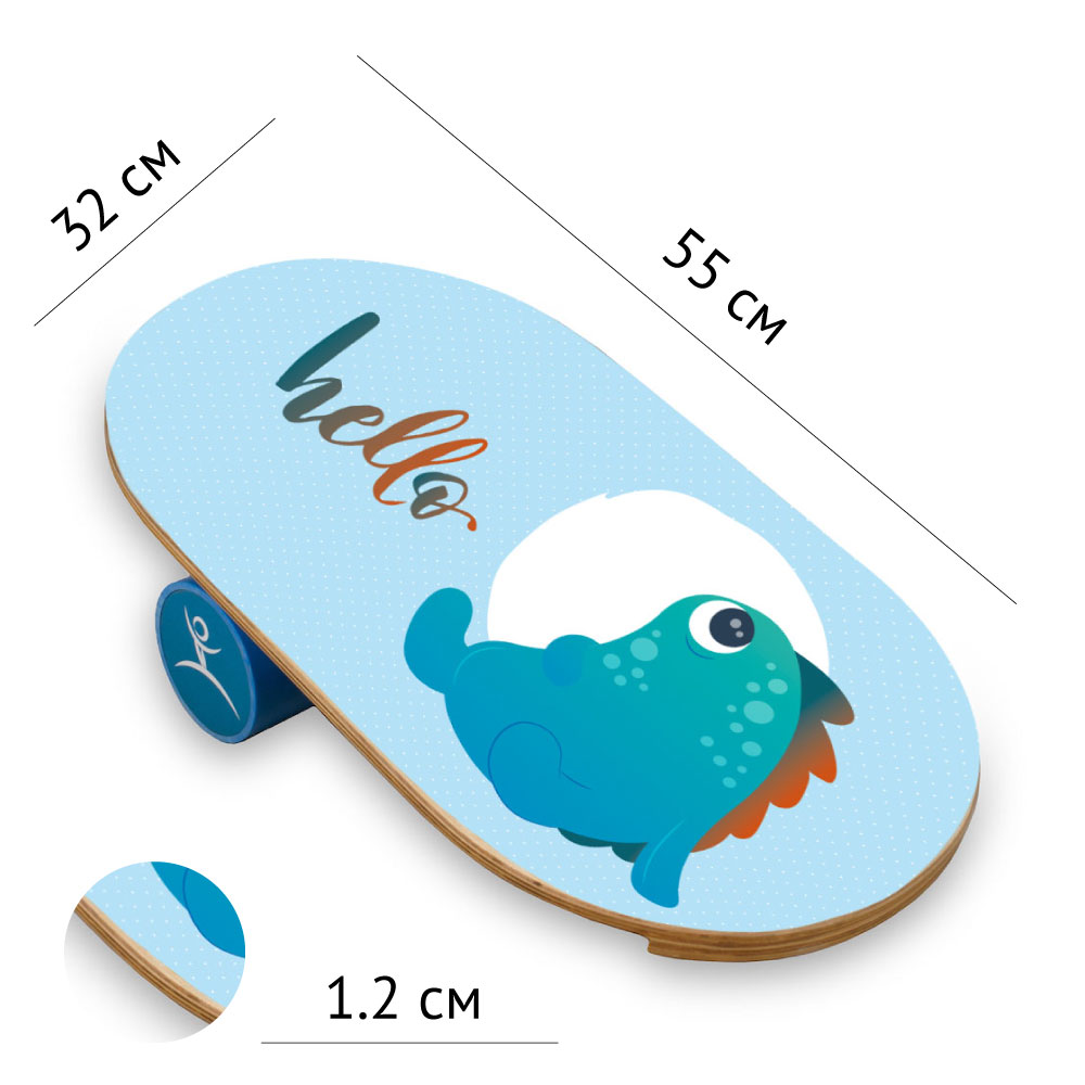 Детский баланс борд Cute monster (Balance Board Training System) с роллером