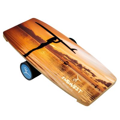 Баланс борд Sunset (Balance Board Training System) с прорезиненным роллером