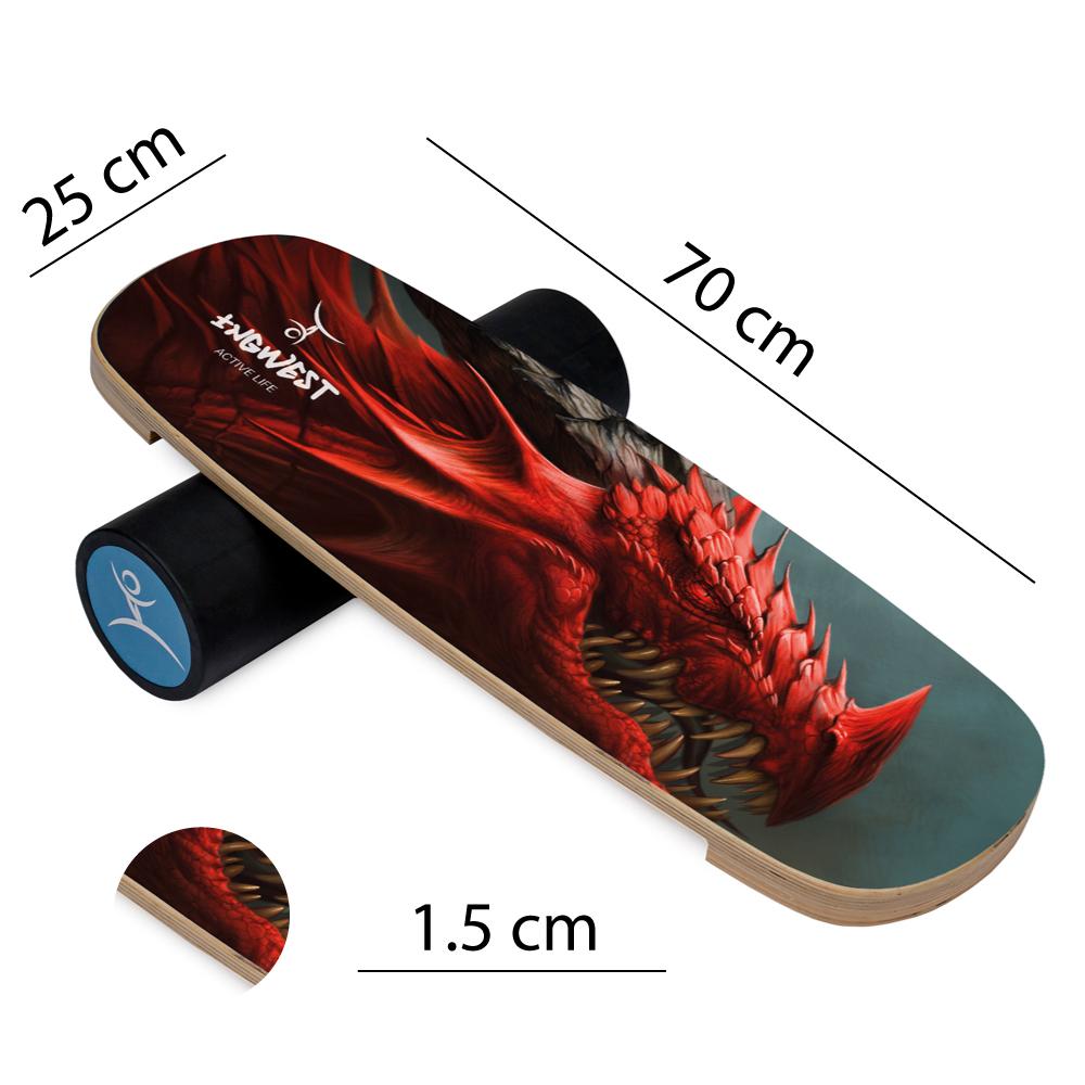 Баланс борд Red Dragon (Balance Board Training System) с прорезиненным роллером