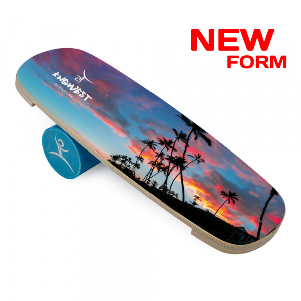 Баланс борд Palm at sunset (Balance Board Training System) с роллером