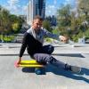 Баланс борд (InGwest Balance Board Training System) с прорезиненным роллером