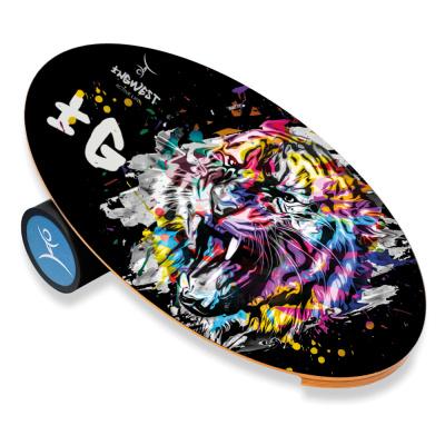 НОВИНКА! Баланс борд Colorful Lion (Balance Board Training System) с прорезиненным роллером